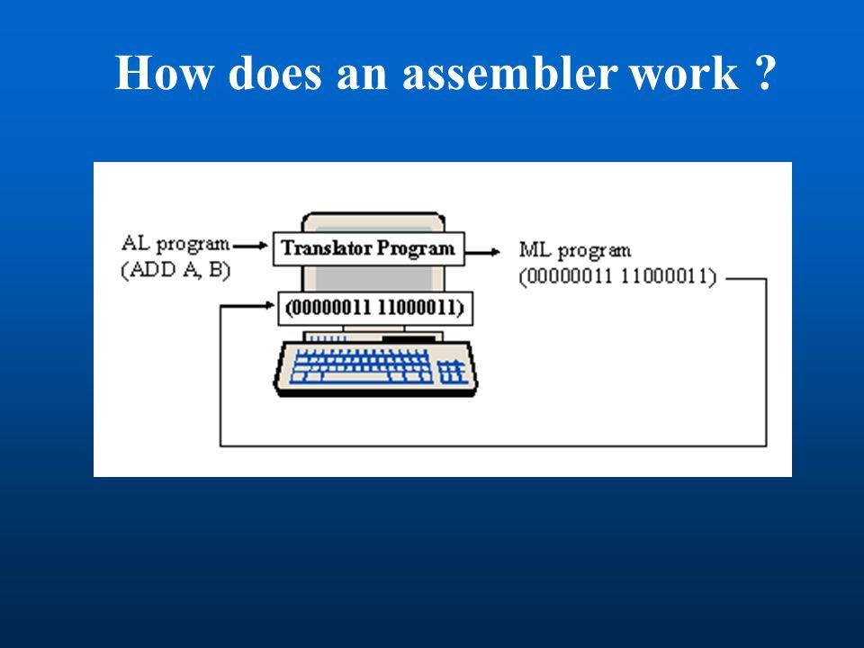 How does an assembler work ?