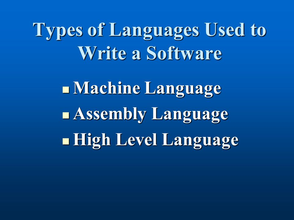 Machine Language A set of machine instructions written using binary code that a processor can understand.A set of machine instructions written using binary code that a processor can understand.