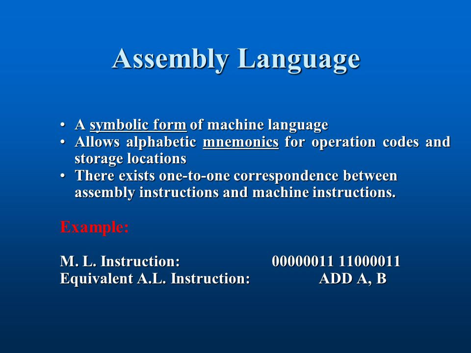 Compiler Translates high-level code into machine language code.