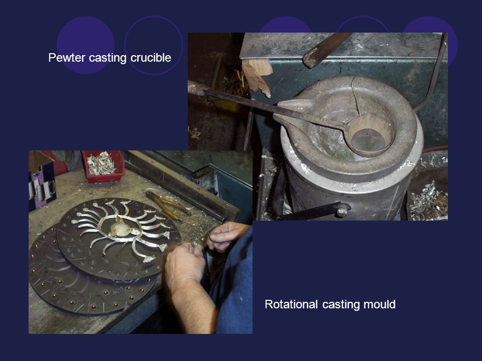 Rotational casting mould Pewter casting crucible