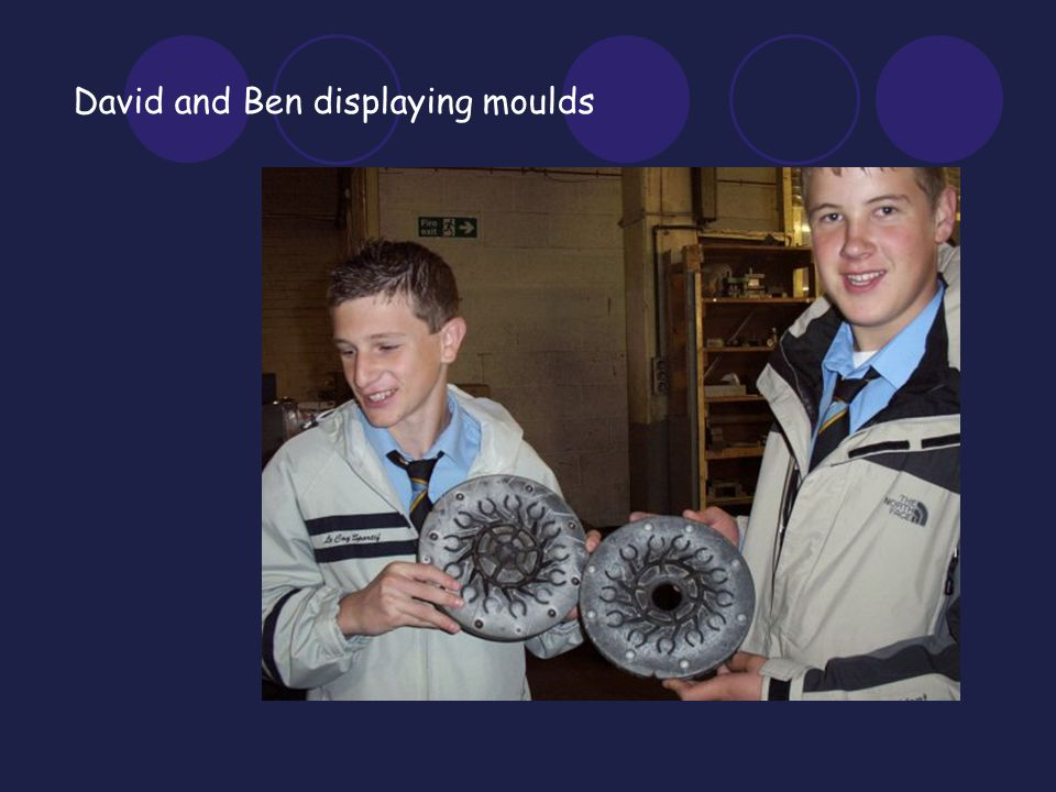 David and Ben displaying moulds