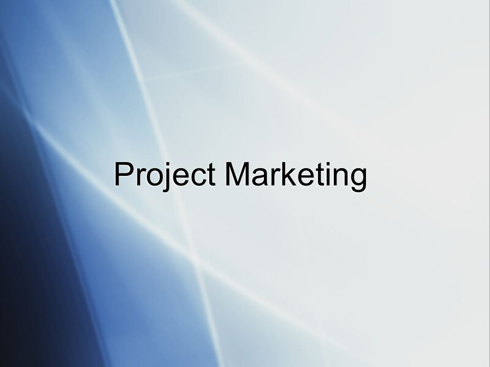Project Marketing