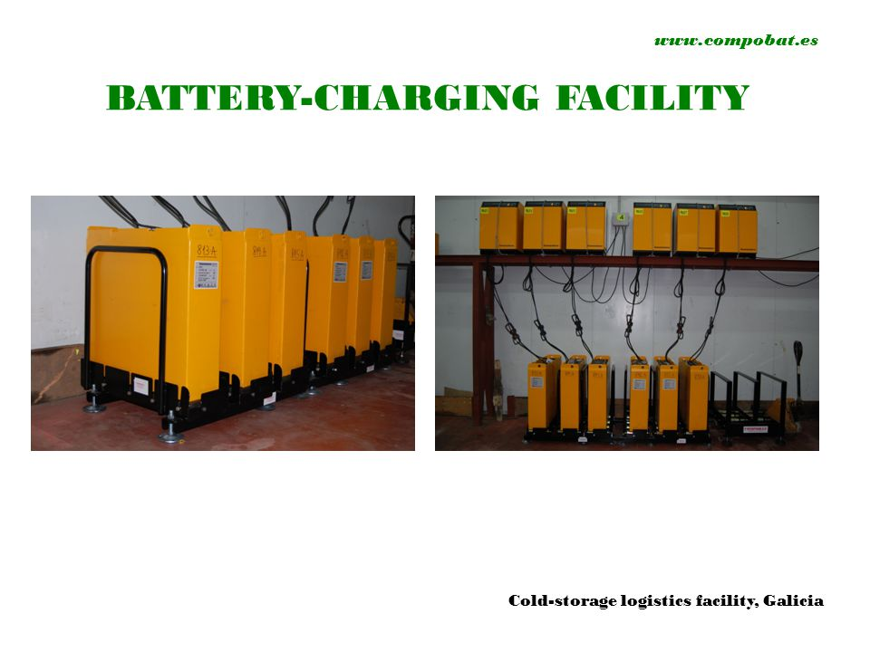 www.compobat.es BATTERY-CHARGING FACILITY Cold-storage logistics facility, Galicia