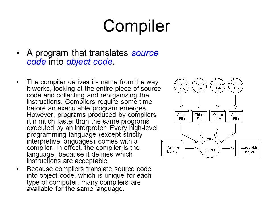Interpreter A program that executes instructions written in a high- level language.