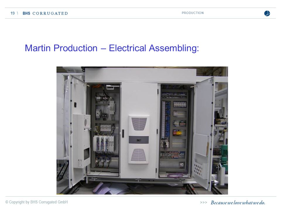 19 Martin Production – Electrical Assembling: PRODUCTION