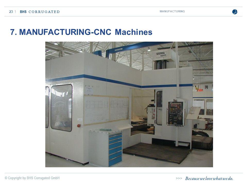 23 7. MANUFACTURING-CNC Machines MANUFACTURING