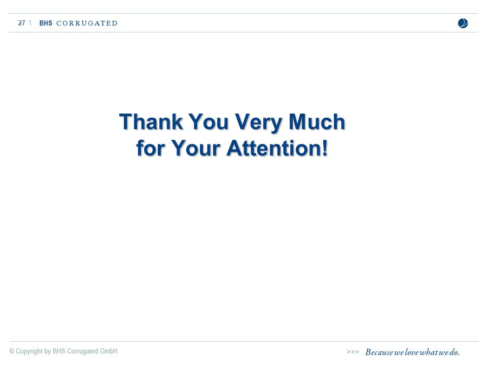 27 Thank You Very Much for Your Attention!