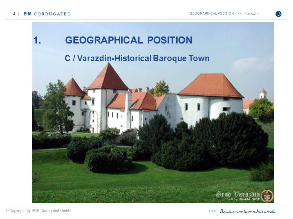 4 C / Varazdin-Historical Baroque Town 1. GEOGRAPHICAL POSITION GEOGRAPHICAL POSITION >>Varaždin