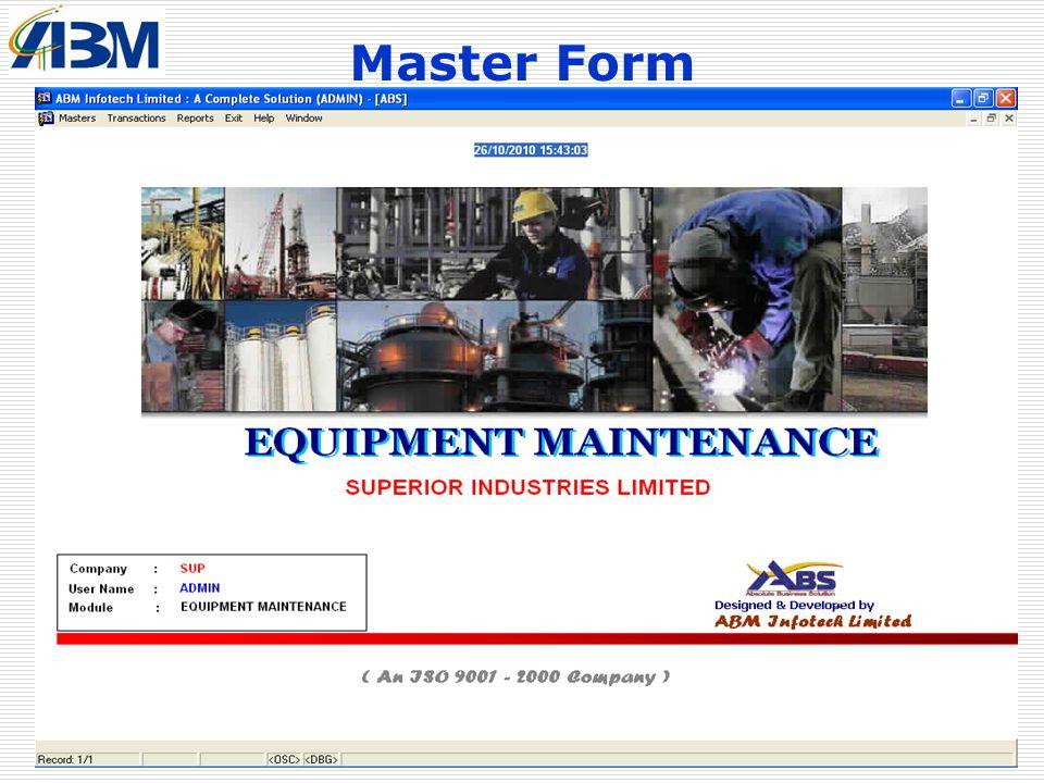Master Form Plant & Maintenance