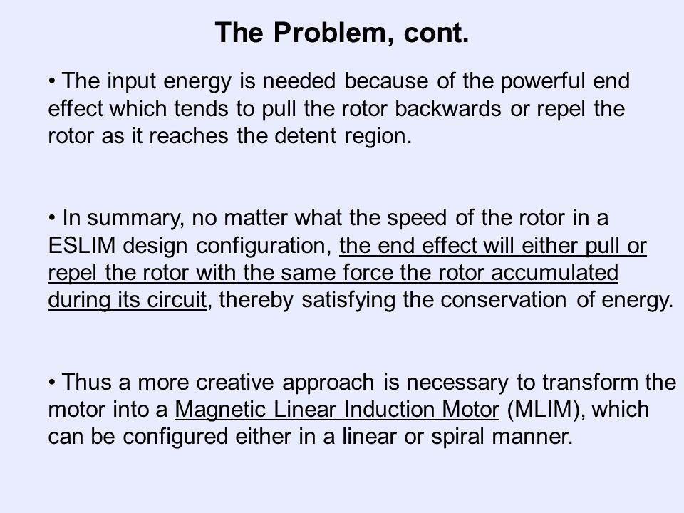 The Problem, cont.