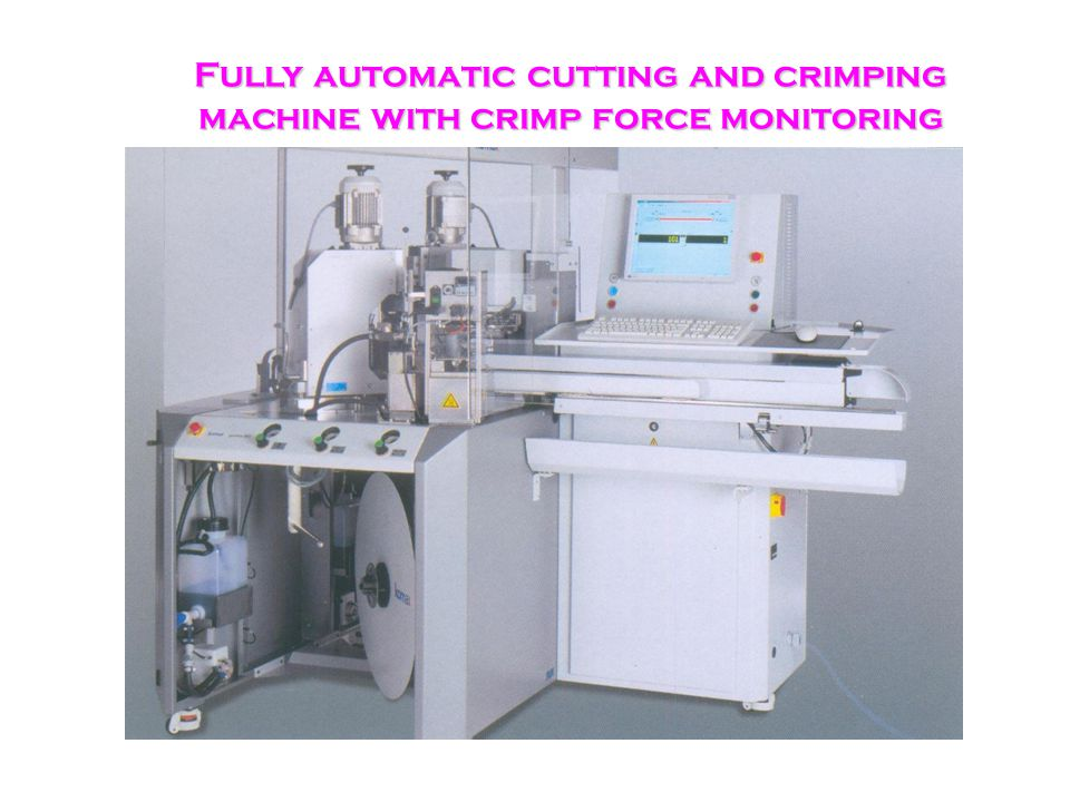 31 Fully Automatic Cutting & Crimping with Crimp Force Analyzer The Srinisons Group