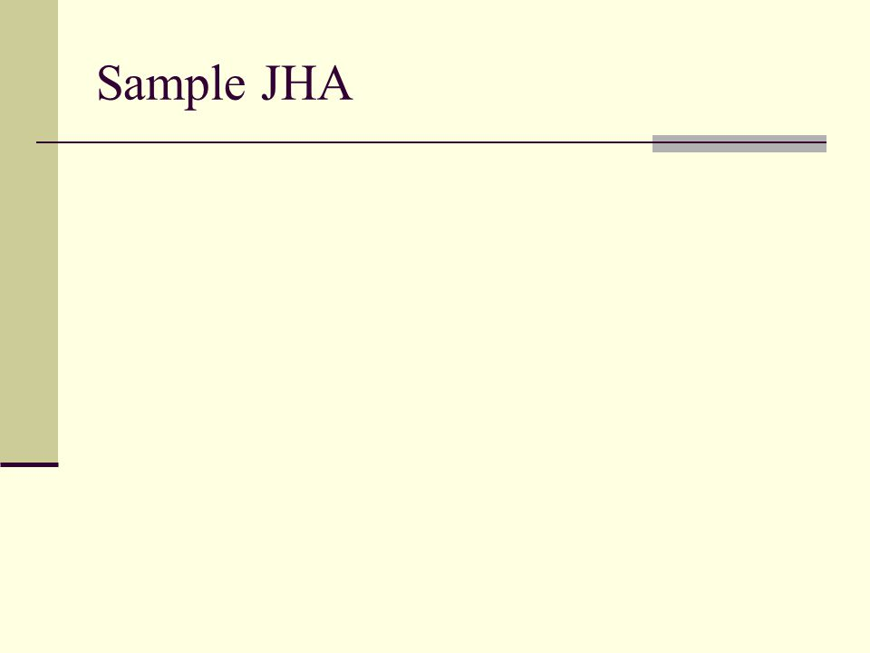 Sample JHA