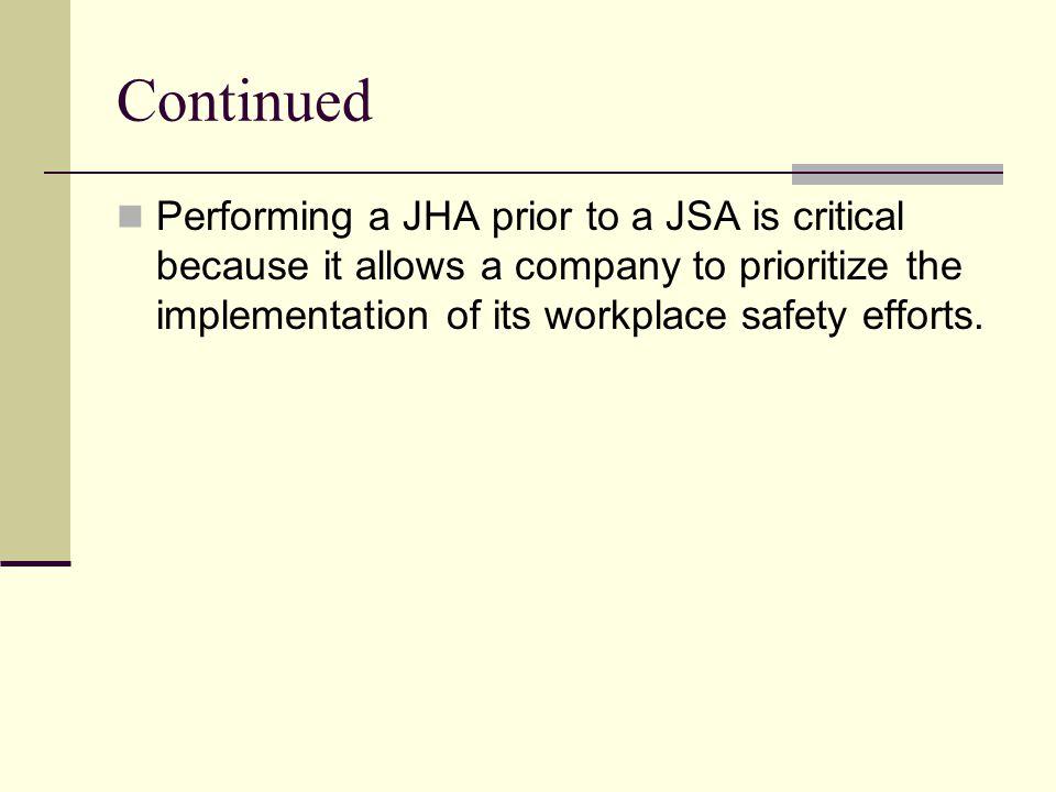 Sample Job hazard Analysis Form Job Title:Job Location:Analyst:Date: Task #Task Description: Hazard Type:Hazard Description: Consequence:Hazard Controls: Rational or Comment: