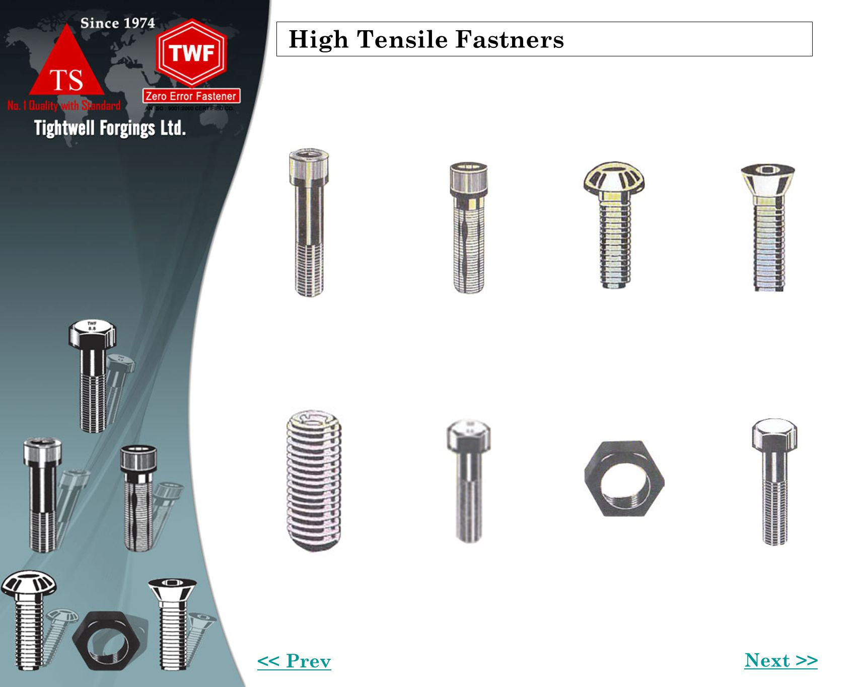 High Tensile Fastners Next >> << Prev