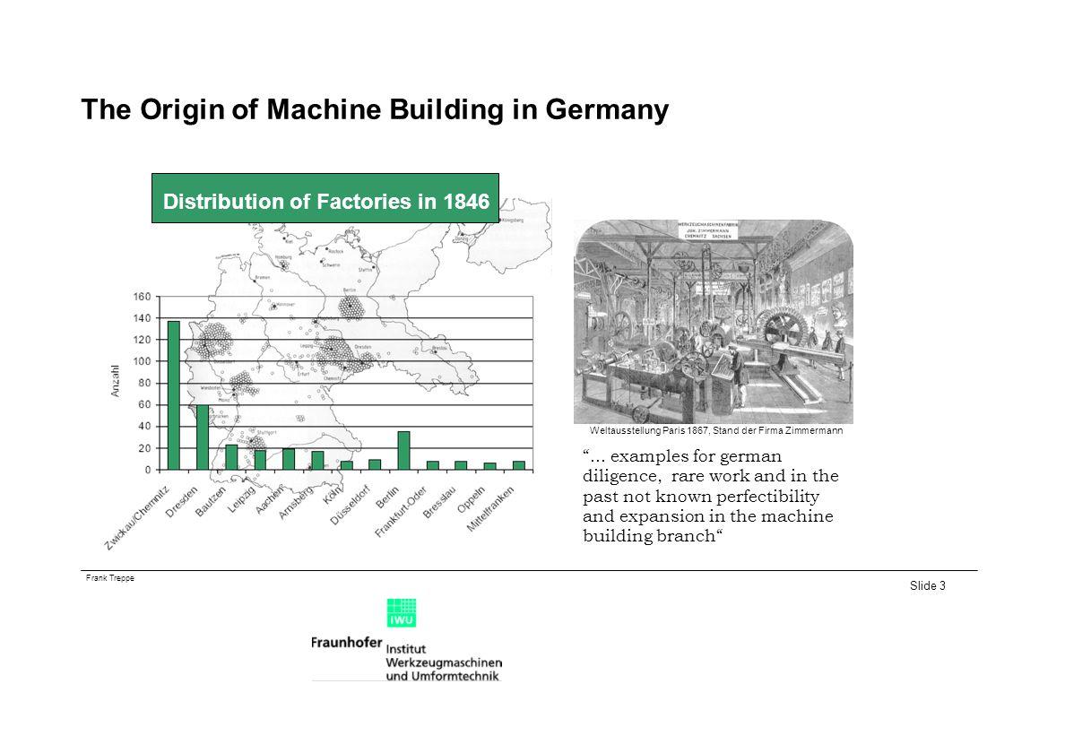 Frank Treppe Slide 3 The Origin of Machine Building in Germany...