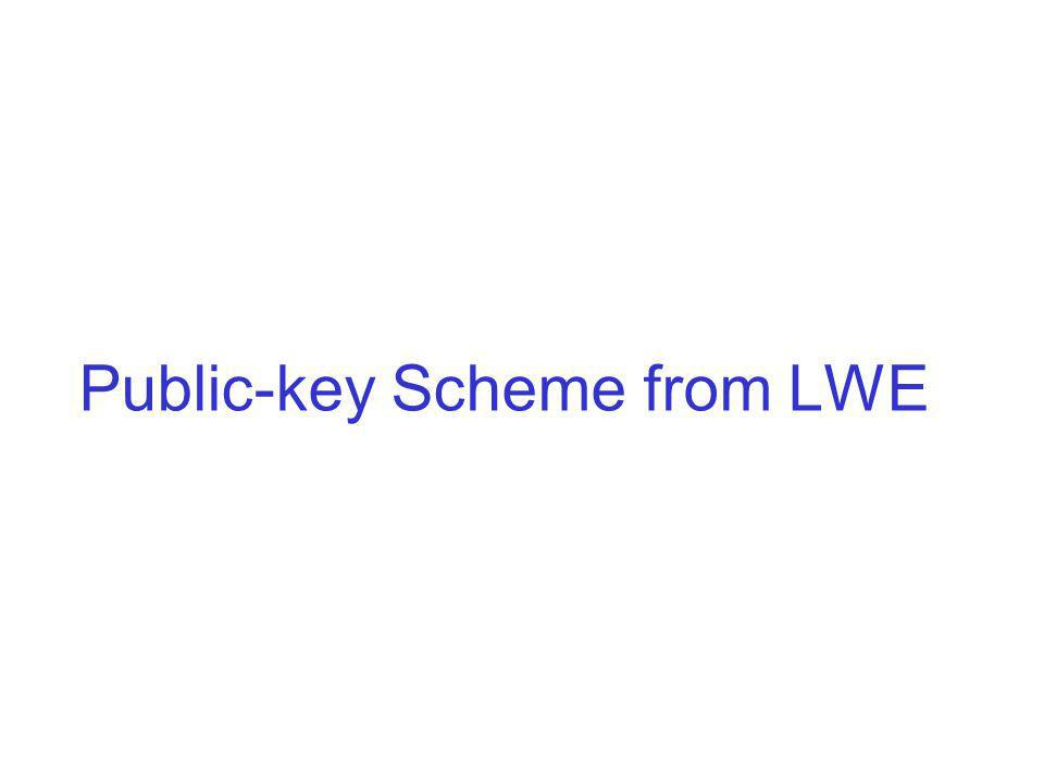 Public-key Scheme from LWE