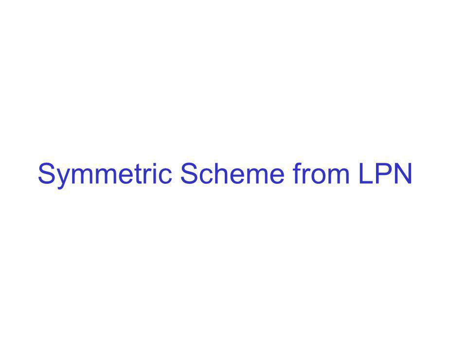 Symmetric Scheme from LPN