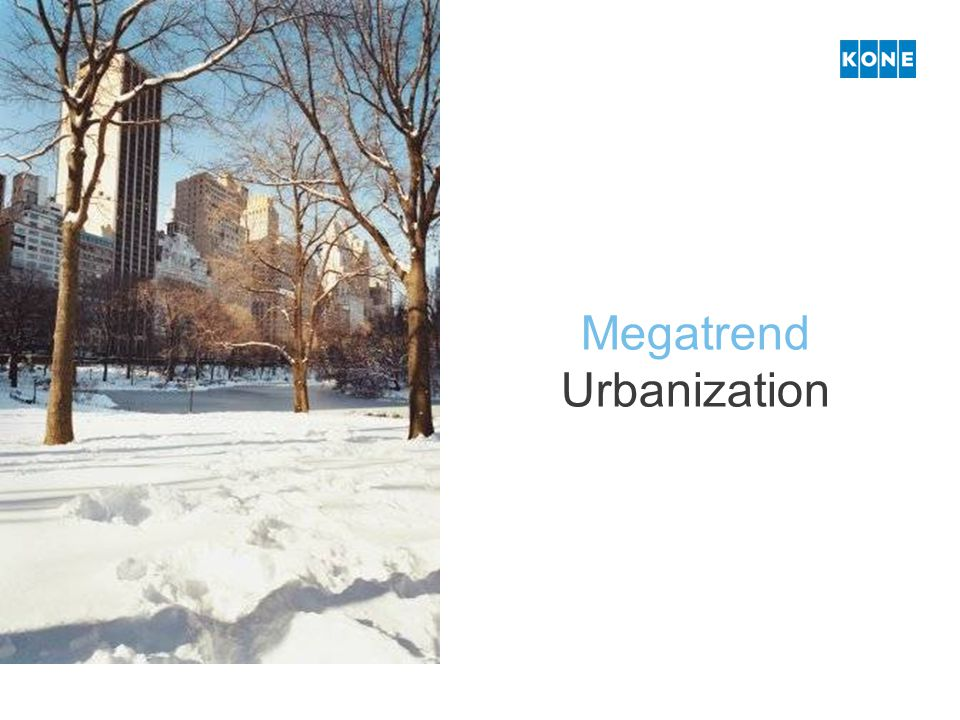 Megatrend Urbanization