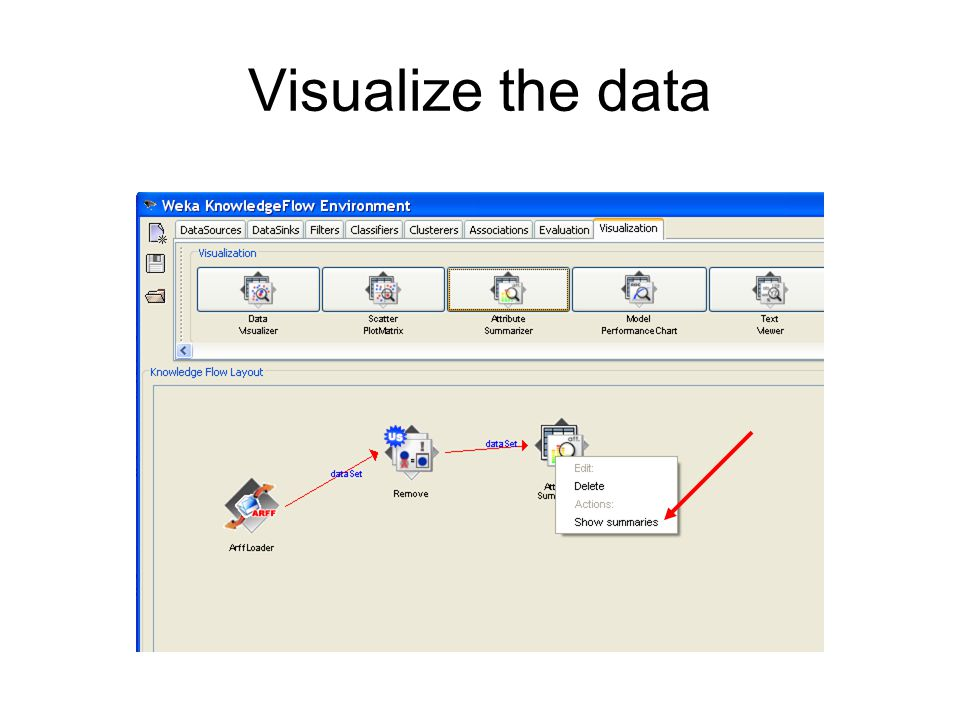 Visualize the data