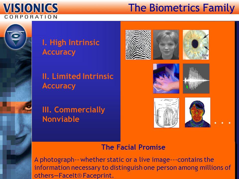 The Biometrics Family I.High Intrinsic Accuracy II.