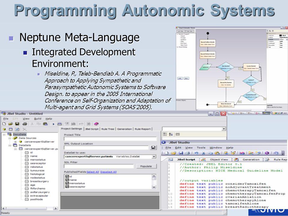 Prof. A. Taleb-Bendiab, talk: Whole Body Interaction07, Date: 03/06/2014, Slide: 24 Programming Autonomic Systems Neptune Meta-Language Neptune Meta-L