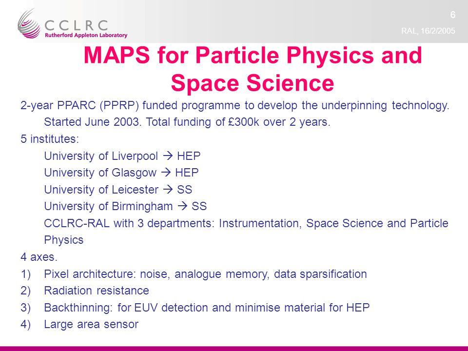 RAL, 16/2/2005 7 Basic Technology MI-3 consortium Consortium of 11 institutes http://mi3.shef.ac.uk.http://mi3.shef.ac.uk Goal: underpinning technology.