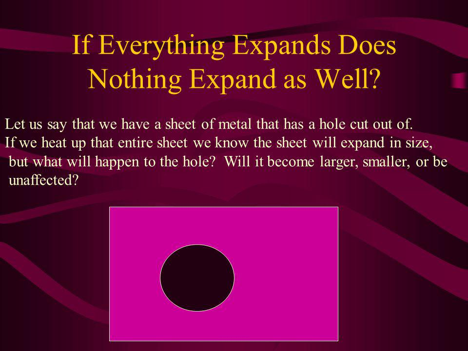 If Everything Expands Does Nothing Expand as Well.