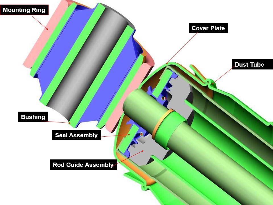 Major Parts 12 Cylinder Tube Piston Rod Reservoir Tube Compression valve assembly Lower Mount Upper Mount Dust Tube Cover Plate Piston