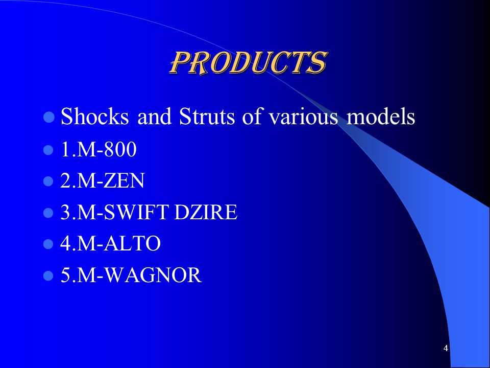 PRODUCTS Shocks and Struts 5