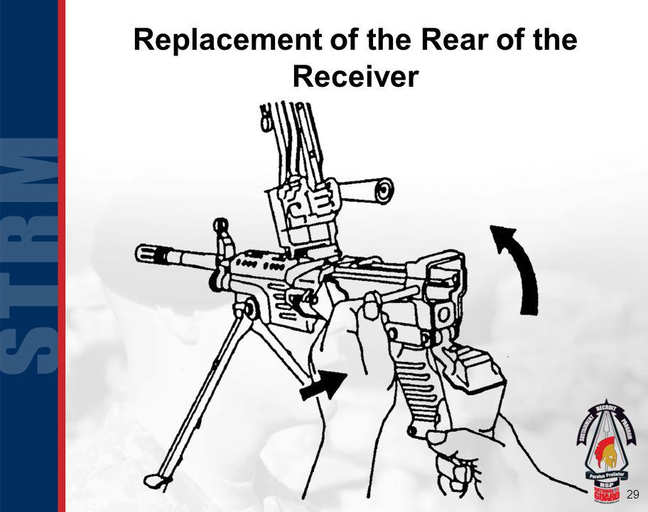29 Replacement of the Rear of the Receiver