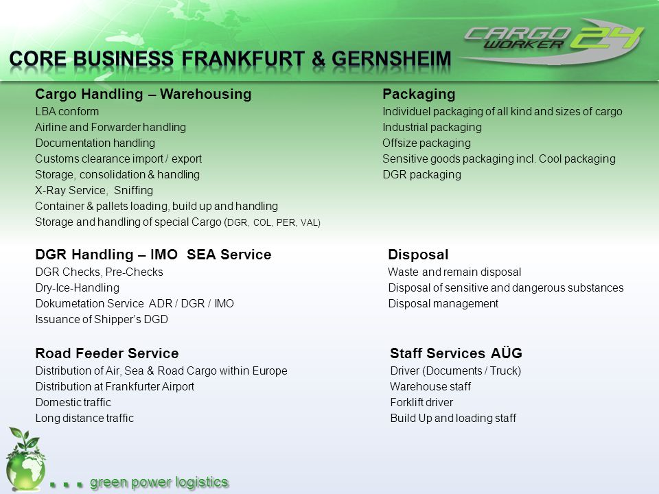 … cool power logistics Consultig & Expertise Thermo- Storage Thermo- Packaging Thermo- Transportation Complete chain of cooling Temperature controlled transports from + 25 °C to– 25° C Dry Ice transports up to – 78° C Thermo-Container Logistic Temperature recodring & online monitoring GDP Standard