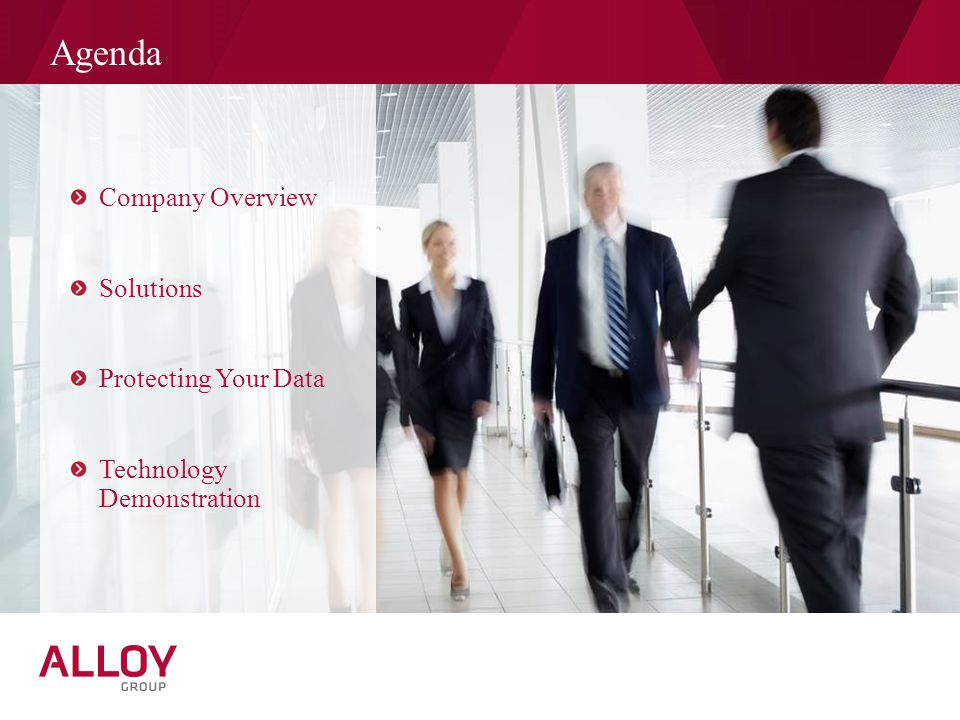 Agenda Company Overview Solutions Protecting Your Data Technology Demonstration