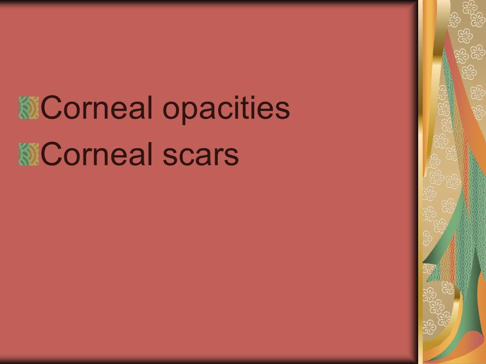 Corneal opacities Corneal scars