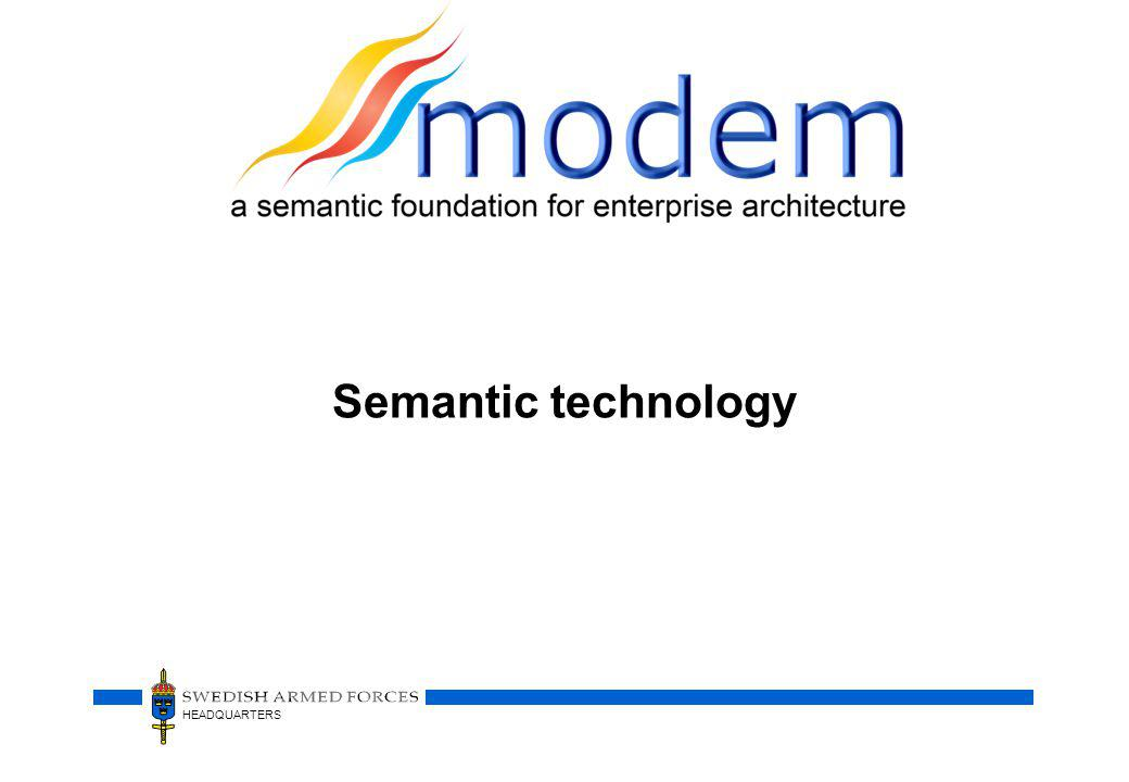 HEADQUARTERS Semantic technology