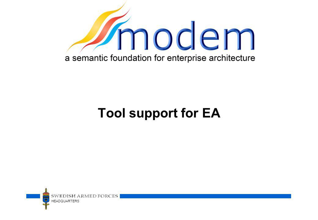HEADQUARTERS Tool support for EA