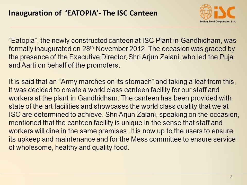 3 Inauguration of New Canteen EATOPIA 28.11.2012