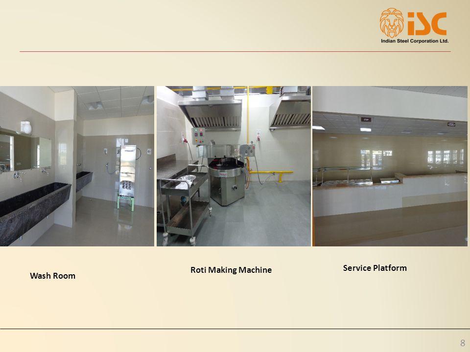 8 Roti Making Machine Wash Room Service Platform