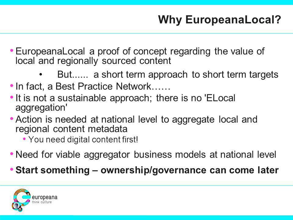 Why EuropeanaLocal.