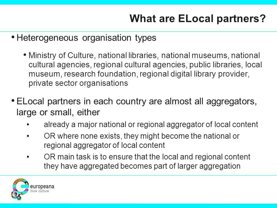 What are ELocal partners.
