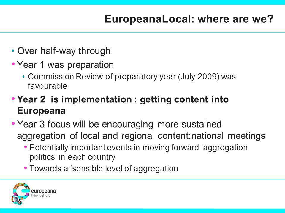 EuropeanaLocal: where are we.