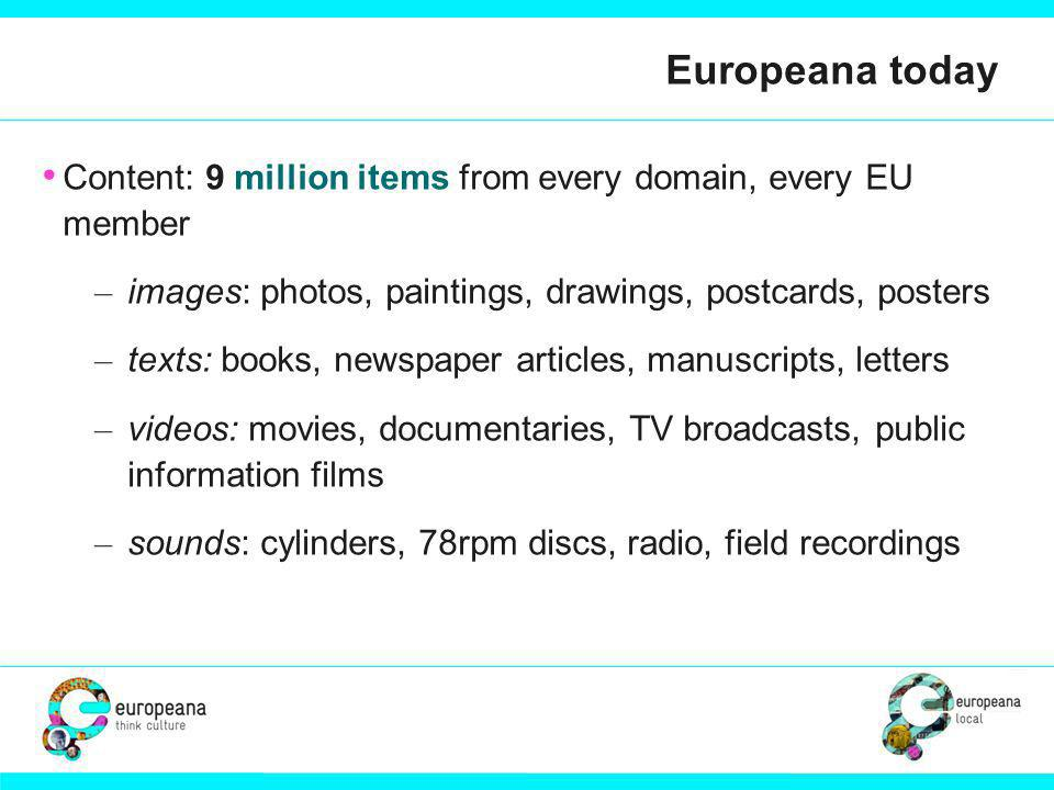 Future Infrastructure Model 1: Vertical up to Europeana