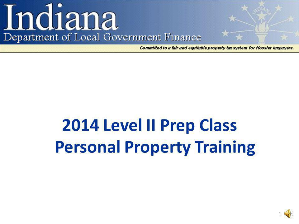 2014 Level II Prep Class Personal Property Training 1