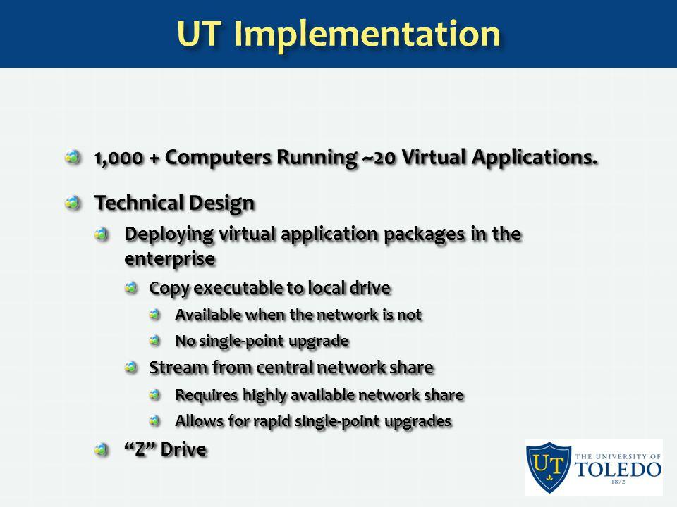 1,000 + Computers Running ~20 Virtual Applications.
