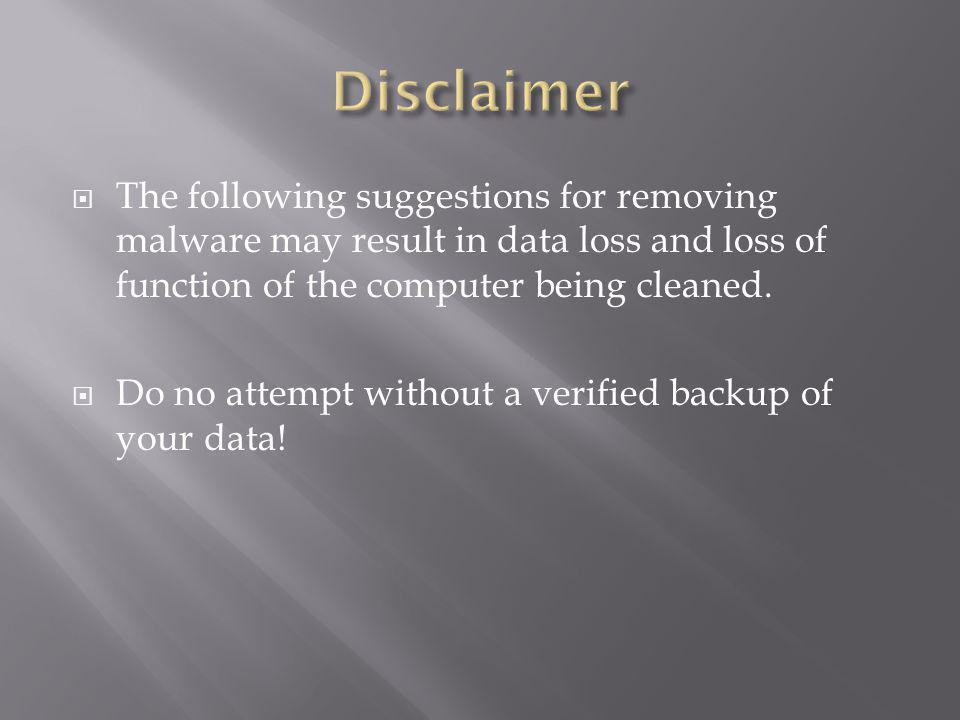 If you know when the malware arrived, a system restore may remove it.