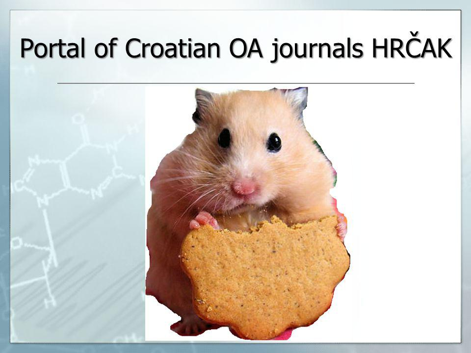 Portal of Croatian OA journals HRČAK