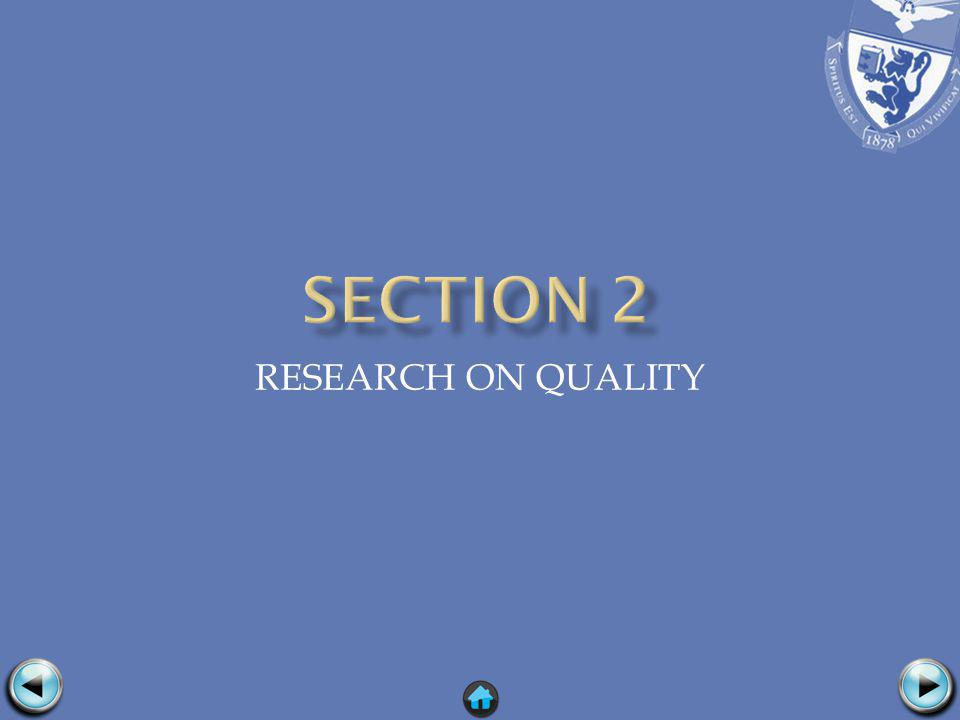 RESEARCH ON QUALITY