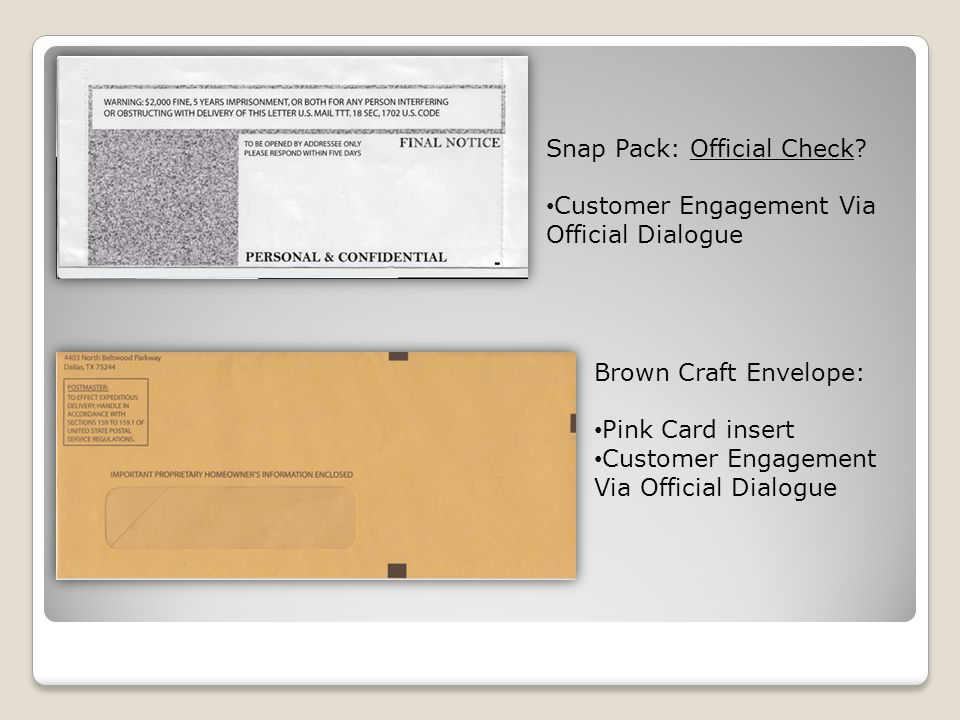 Snap Pack: Official Check.
