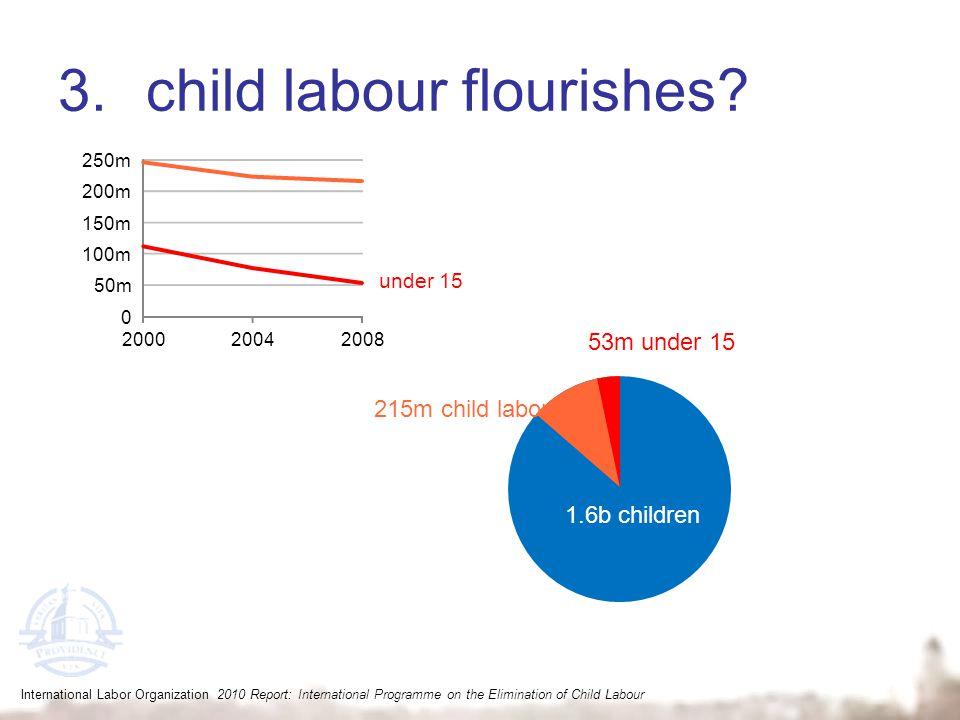 3.child labour flourishes? International Labor Organization 2010 Report: International Programme on the Elimination of Child Labour 1.6b children 215m