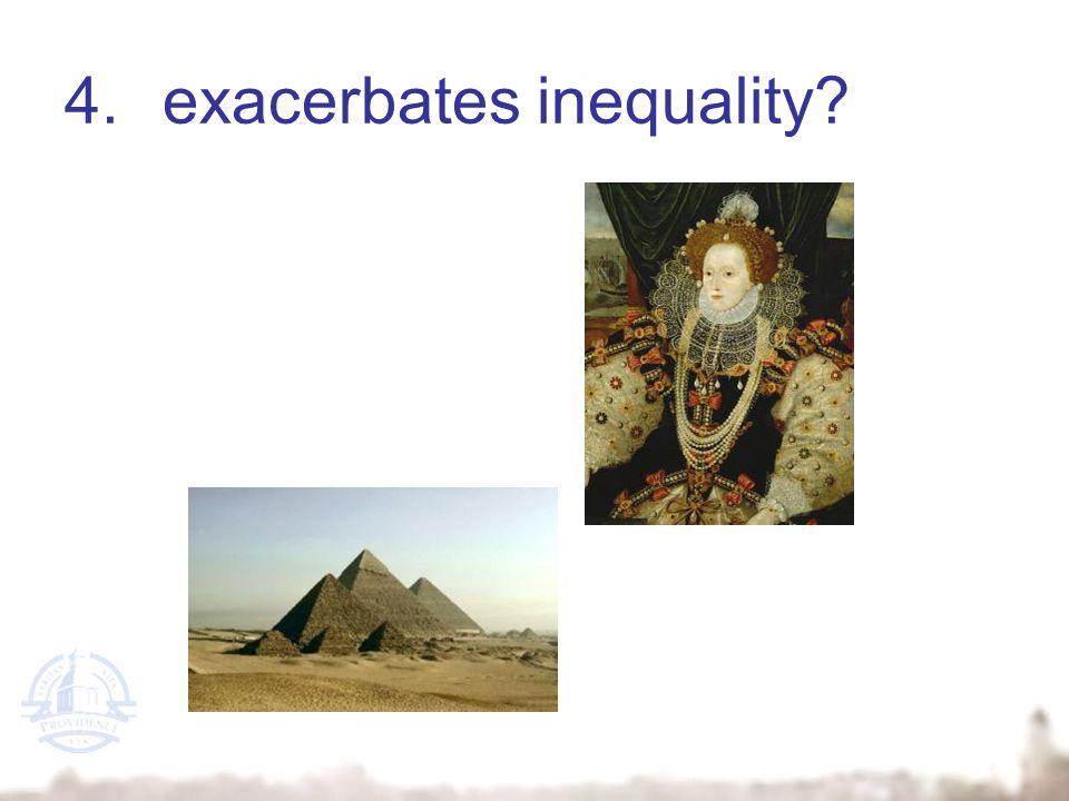 4.exacerbates inequality?