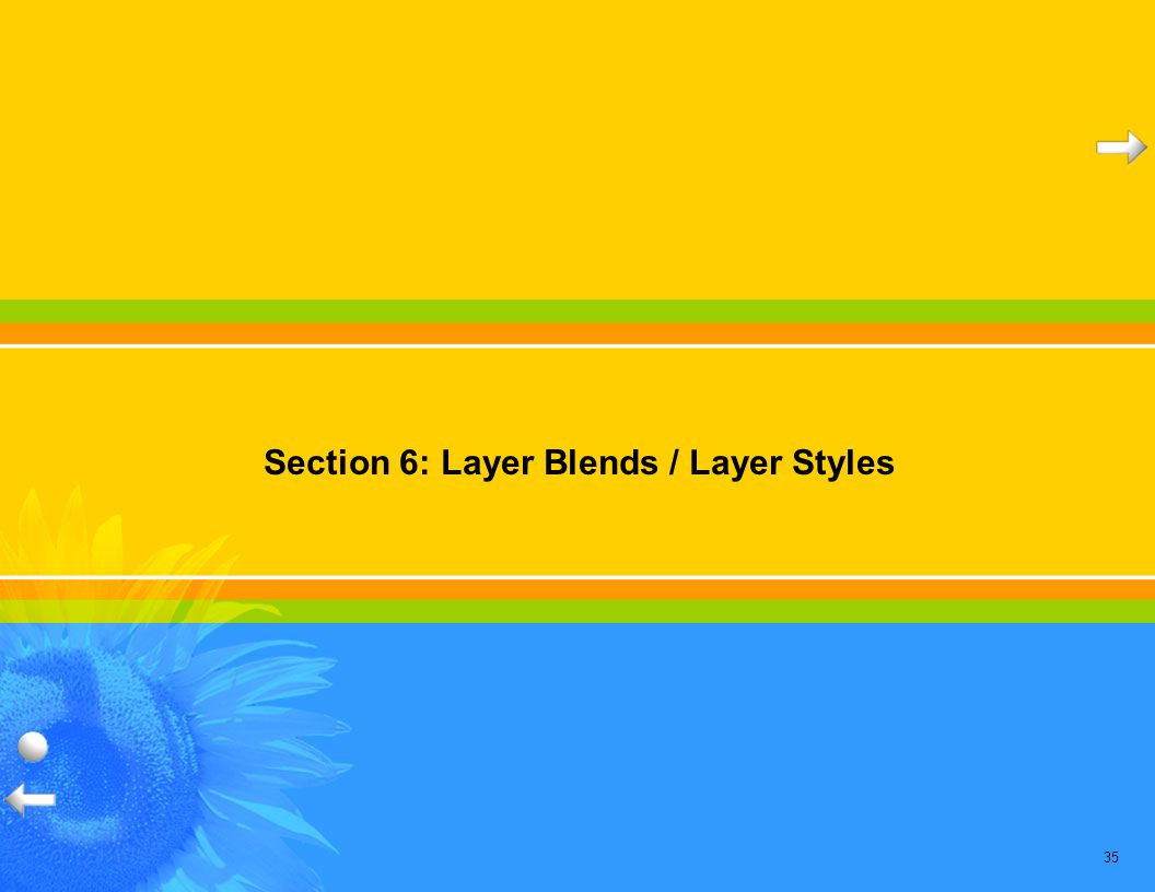 35 Section 6: Layer Blends / Layer Styles